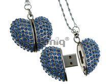 Флешка Uniq USB 2.0 СЕРДЦЕ БРИЛЛИАНТОВОЕ голубое 220кам. U-5030 42гр. 45х41х15мм 4GB (04C14397U2)