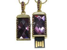 Флешка Uniq USB 2.0 КАМЕНЬ УДАЧИ Золото / Сиреневый 4GB (04C14417U2)
