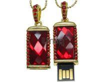 Флешка Uniq USB 2.0  КАМЕНЬ УДАЧИ Золото / Красный 4GB (04C14418U2)