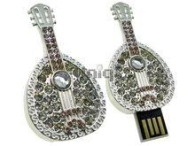 Флешка Uniq USB 2.0 МУЗ Бандура серебро [металл, камни] 4GB (04C14429U2)