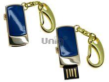 Флешка Uniq USB 2.0 ПРЯЖКА золото / синий [металл] 4GB (04C14434U2)