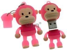 Флешка Uniq USB 2.0 ОБЕЗЬЯНКА розовая 4GB (04C14445U2)