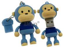 Флешка Uniq USB 2.0 ОБЕЗЬЯНКА голубая 4GB (04C14446U2)
