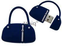 Флешка Uniq USB 2.0 СУМОЧКА дамская синяя Flash USB водонепрониц. Резина 4GB (04C14447U2)