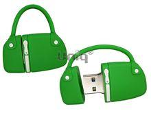 Флешка Uniq USB 2.0 СУМОЧКА дамская зеленая Flash USB водонепрониц. Резина 4GB (04C14448U2)