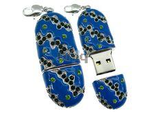 Флешка Uniq USB 2.0 РЕКА ГОЛУБОЙ ДУНАЙ инкруст 92кам. 27гр. брелок 4GB (04C14452U2)