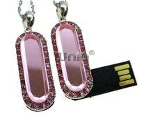 Флешка Uniq USB 2.0 ЦАРЕВНА серебро / розовый [металл, камни] 4GB (04C14491U2)