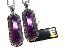 Флешка Uniq USB 2.0 ЦАРЕВНА серебро / фиолетовый [металл, камни] 4GB (04C14493U2)