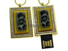 Флешка Uniq USB 2.0 ШКАТУЛКА МАЛАХИТОВАЯ золото / желтый 4GB (04C14500U2)