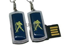 Флешка Uniq USB 2.0 ZODIAK MINI Водолей синяя (Aquarius) 4GB (04C14507U2)