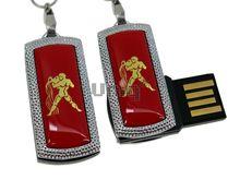 Флешка Uniq USB 2.0 ZODIAK MINI Водолей красный (Aquarius) [металл, пластик] 4GB (04C14508U2)