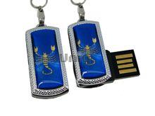 Флешка Uniq USB 2.0 ZODIAK MINI Скорпион синий (Scorpio) 4GB (04C14519U2)