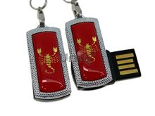 Флешка Uniq USB 2.0 ZODIAK MINI Скорпион красный (Scorpio) [металл, пластик] 4GB (04C14520U2)