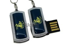 Флешка Uniq USB 2.0 ZODIAK MINI Стрелец синий (Sagittarius) 4GB (04C14528U2)