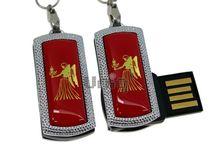 Флешка Uniq USB 2.0 ZODIAK MINI Дева красный (Virgo) [металл, пластик] 4GB (04C14532U2)