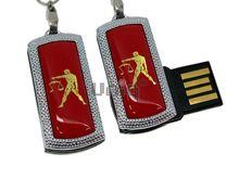 Флешка Uniq USB 2.0 ZODIAK MINI Весы красный (Libra) [металл, пластик] 4GB (04C14537U2)