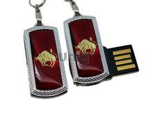 Флешка Uniq USB 2.0 ZODIAK MINI Телец красный (Taurus) 4GB (04C14538U2)
