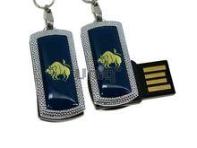 Флешка Uniq USB 2.0 ZODIAK MINI Телец синий (Taurus) 4GB (04C14540U2)