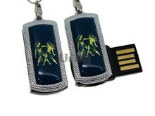 Флешка Uniq USB 2.0 ZODIAK MINI Близнецы синий (Gemini) 4GB (04C14543U2)
