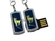 Флешка Uniq USB 2.0 ZODIAK MINI Овен синий (Aries) [металл, пластик] 4GB (04C14546U2)