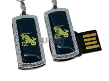 Флешка Uniq USB 2.0 ZODIAK MINI Козерог синий (Capricorn) 4GB (04C14552U2)