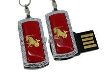 Флешка Uniq USB 2.0 ZODIAK MINI Козерог красный (Capricorn) [металл, пластик] 4GB (04C14553U2)