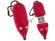 Флешка Uniq USB 2.0 МЫШКА розовая 4GB (04C14560U2)
