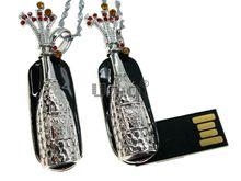 Флешка Uniq USB 2.0 МЕЧТА Шампанское Праздничный Фейерверк Серебро / Белый 4GB (04C14566U2)