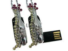 Флешка Uniq USB 2.0 МЕЧТА Шампанское Рекой Серебро / Желтый 4GB (04C14567U2)