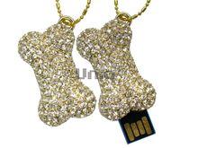 Флешка Uniq USB 2.0 САХАРНАЯ КОСТОЧКА золото 110кам. U-821 39гр.кулон Водонепр. 4GB (04C14614U2)