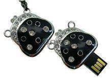 Флешка Uniq USB 2.0 РИДИКЮЛЬ в стразах черный серебро, цепь 36гр 4GB (04C14618U2)
