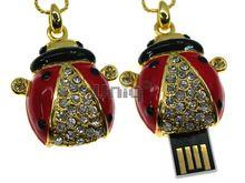 Флешка Uniq USB 2.0 БОЖЬЯ КОРОВКА Золото / Красный 4GB (04C14636U2)