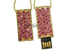 Флешка Uniq USB 2.0 CLASSIC Подвеска Золото / Розовый 4GB (04C14643U2)