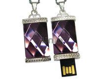 Флешка Uniq USB 2.0 БАГЕТ Аметист Кулон Серебро / Фиолетовый 4GB (04C14652U2)