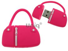 Флешка Uniq USB 2.0 СУМОЧКА дамская розовая Flash USB водонепрониц. Резина 4GB (04C14705U2)