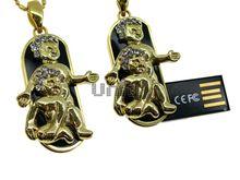 Флешка Uniq USB 2.0 ZODIAK МЕЧТА Близнецы черный / золото (Gemini) 4GB (04C14749U2)