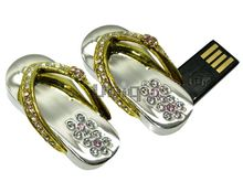 Флешка Uniq USB 2.0 ВЬЕТНАМКИ Маленькие Серебро / Золото 4GB (04C14758U2)