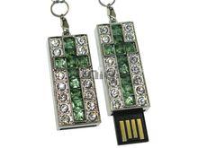 Флешка Uniq USB 2.0 КРЕСТ Витраж Серебро / Зеленый 4GB (04C14763U2)