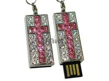 Флешка Uniq USB 2.0 КРЕСТ Витраж Серебро / Розовый 4GB (04C14765U2)