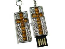 Флешка Uniq USB 2.0 КРЕСТ Витраж Серебро / Желтый 4GB (04C14766U2)