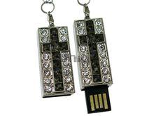 Флешка Uniq USB 2.0 КРЕСТ Витраж Серебро / Черный 4GB (04C14767U2)