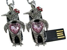 Флешка Uniq USB 2.0 МЕЧТА Chicken Heart Серебро / Розовый 4GB (04C14773U2)