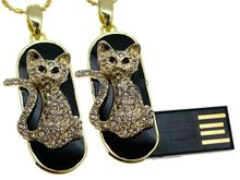Флешка Uniq USB 2.0 МЕЧТА Kitty Золото / Черный 4GB (04C14774U2)