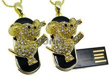 Флешка Uniq USB 2.0 МЕЧТА Слоненок Золото / Черный 4GB (04C14782U2)