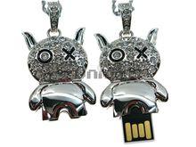 Флешка Uniq USB 2.0 ЧЕРТЕНОК серебро [металл, камни] 4GB (04C14823U2)