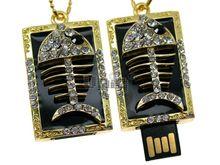Флешка Uniq USB 2.0 ПАННО Скелет Рыбы 4GB (04C14825U2)