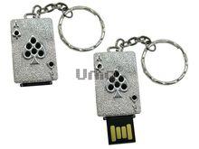 Флешка Uniq USB 2.0 ТУЗ ПИКОВЫЙ серебро 8кам. 14гр. Водонепр. 4GB (04C14851U2)