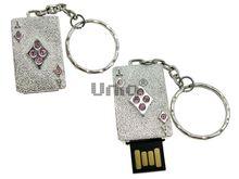 Флешка Uniq USB 2.0 ТУЗ БУБНОВЫЙ серебро 8кам. 14гр. Водонепр. 4GB (04C14852U2)