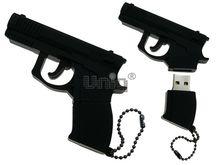 Флешка Uniq USB 2.0 ОРУЖИЕ Пистолет черный 4GB (04C14888U2)