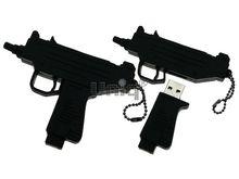 Флешка Uniq USB 2.0 ОРУЖИЕ Автомат УЗИ черн, разборная, противоударн. Резина 4GB (04C14890U2)